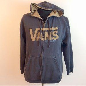 Vans Hooded Zip Front Jacket Large